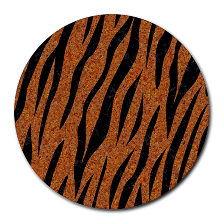 SKIN3 BLACK MARBLE & RUSTED METAL Round Mousepads