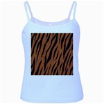 SKIN3 BLACK MARBLE & RUSTED METAL Baby Blue Spaghetti Tank Front