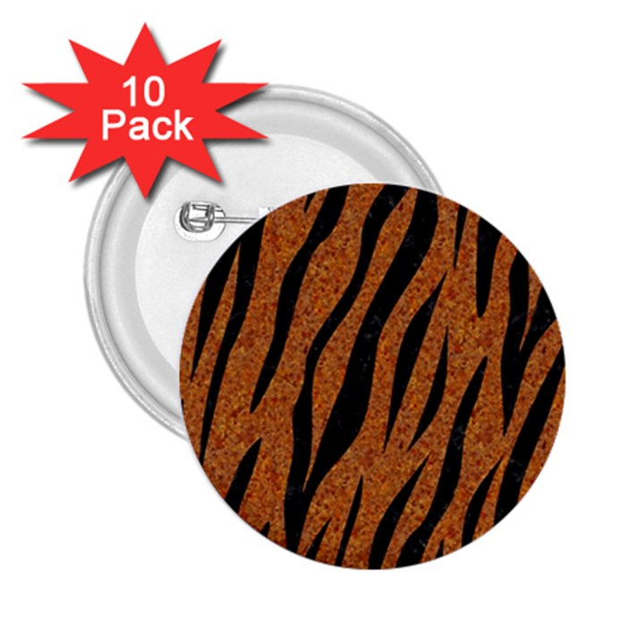 SKIN3 BLACK MARBLE & RUSTED METAL 2.25  Buttons (10 pack)