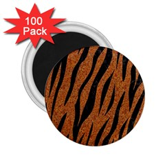 Skin3 Black Marble & Rusted Metal 2 25  Magnets (100 Pack)