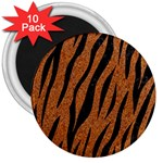 SKIN3 BLACK MARBLE & RUSTED METAL 3  Magnets (10 pack)  Front