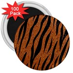 SKIN3 BLACK MARBLE & RUSTED METAL 3  Magnets (100 pack) Front