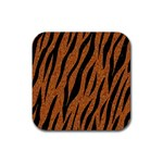 SKIN3 BLACK MARBLE & RUSTED METAL Rubber Square Coaster (4 pack)  Front