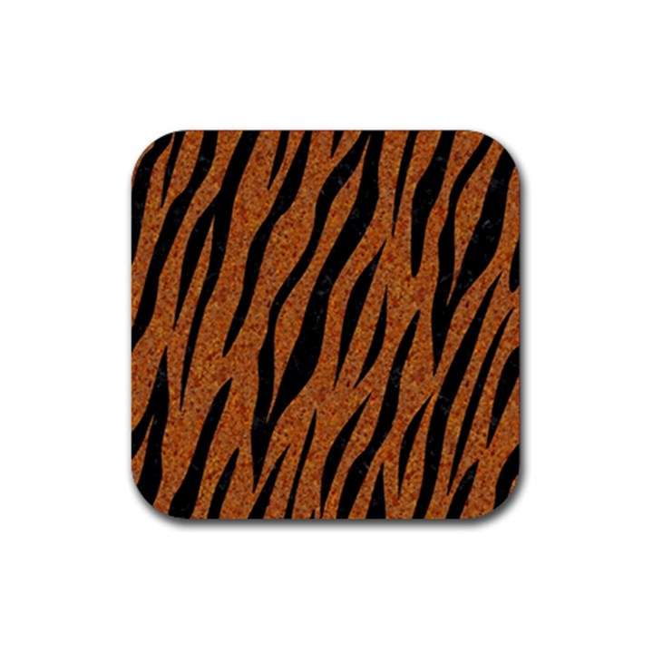 SKIN3 BLACK MARBLE & RUSTED METAL Rubber Square Coaster (4 pack)
