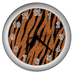 SKIN3 BLACK MARBLE & RUSTED METAL Wall Clocks (Silver)  Front