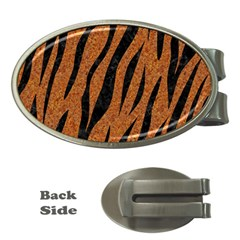 Skin3 Black Marble & Rusted Metal Money Clips (oval)