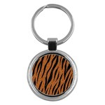 SKIN3 BLACK MARBLE & RUSTED METAL Key Chains (Round)  Front