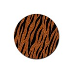 SKIN3 BLACK MARBLE & RUSTED METAL Rubber Round Coaster (4 pack)  Front