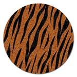 SKIN3 BLACK MARBLE & RUSTED METAL Magnet 5  (Round) Front