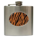 SKIN3 BLACK MARBLE & RUSTED METAL Hip Flask (6 oz) Front