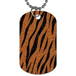 SKIN3 BLACK MARBLE & RUSTED METAL Dog Tag (Two Sides) Back