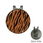 SKIN3 BLACK MARBLE & RUSTED METAL Hat Clips with Golf Markers Front