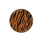 SKIN3 BLACK MARBLE & RUSTED METAL Hat Clip Ball Marker Front