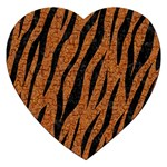 SKIN3 BLACK MARBLE & RUSTED METAL Jigsaw Puzzle (Heart) Front