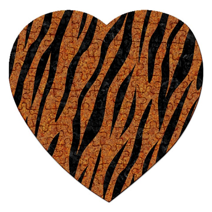 SKIN3 BLACK MARBLE & RUSTED METAL Jigsaw Puzzle (Heart)