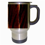 SKIN3 BLACK MARBLE & RUSTED METAL Travel Mug (Silver Gray) Right