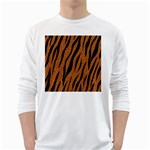 SKIN3 BLACK MARBLE & RUSTED METAL White Long Sleeve T-Shirts Front