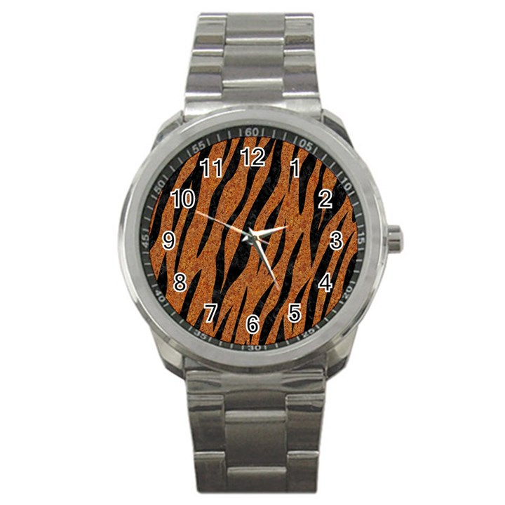 SKIN3 BLACK MARBLE & RUSTED METAL Sport Metal Watch