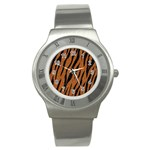 SKIN3 BLACK MARBLE & RUSTED METAL Stainless Steel Watch Front