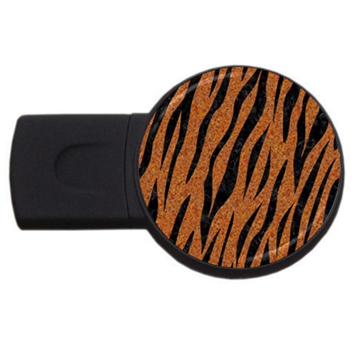 SKIN3 BLACK MARBLE & RUSTED METAL USB Flash Drive Round (4 GB)