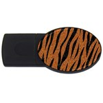 SKIN3 BLACK MARBLE & RUSTED METAL USB Flash Drive Oval (4 GB) Front