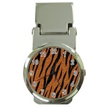 SKIN3 BLACK MARBLE & RUSTED METAL Money Clip Watches Front