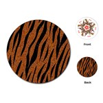 SKIN3 BLACK MARBLE & RUSTED METAL Playing Cards (Round)  Front