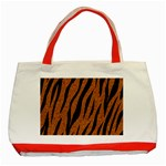 SKIN3 BLACK MARBLE & RUSTED METAL Classic Tote Bag (Red) Front
