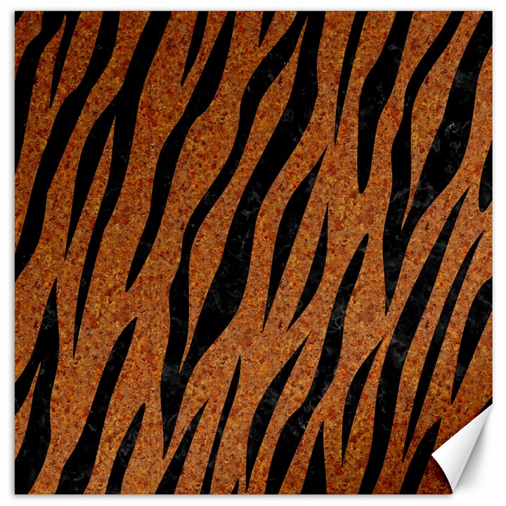 SKIN3 BLACK MARBLE & RUSTED METAL Canvas 16  x 16