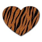 SKIN3 BLACK MARBLE & RUSTED METAL Heart Mousepads Front