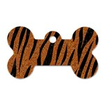 SKIN3 BLACK MARBLE & RUSTED METAL Dog Tag Bone (Two Sides) Front