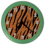 SKIN3 BLACK MARBLE & RUSTED METAL Color Wall Clocks Front