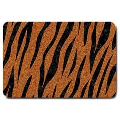 Skin3 Black Marble & Rusted Metal Large Doormat