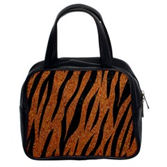 Skin3 Black Marble & Rusted Metal Classic Handbags (2 Sides)