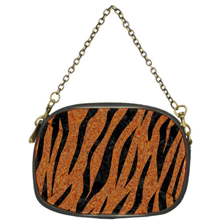 SKIN3 BLACK MARBLE & RUSTED METAL Chain Purses (Two Sides)