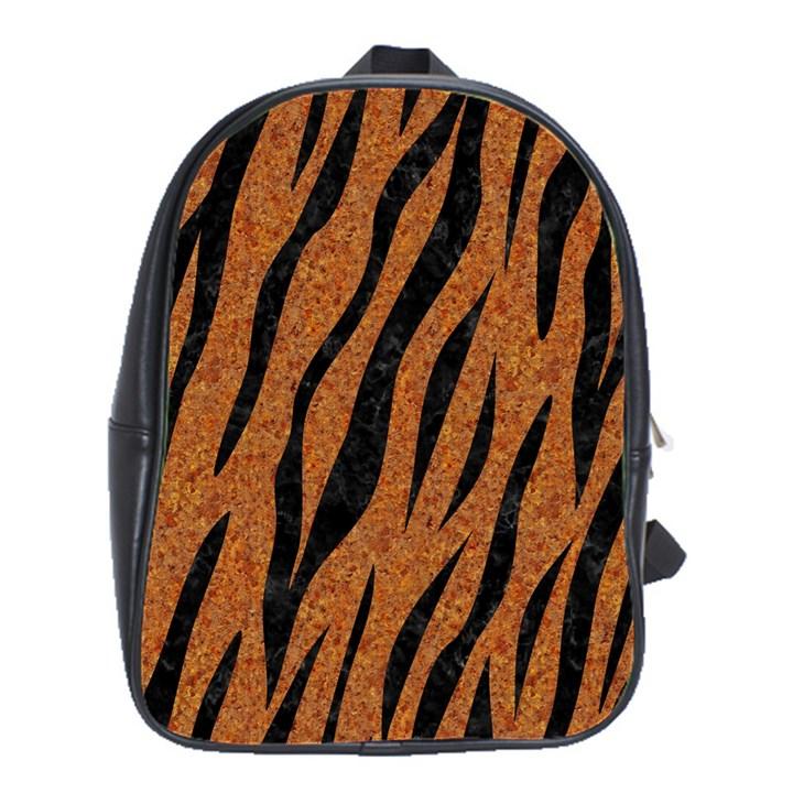 SKIN3 BLACK MARBLE & RUSTED METAL School Bag (Large)