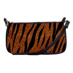 SKIN3 BLACK MARBLE & RUSTED METAL Shoulder Clutch Bags Front