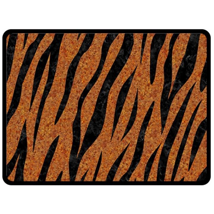 SKIN3 BLACK MARBLE & RUSTED METAL Fleece Blanket (Large)