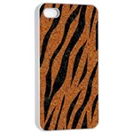 SKIN3 BLACK MARBLE & RUSTED METAL Apple iPhone 4/4s Seamless Case (White) Front