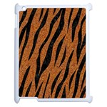 SKIN3 BLACK MARBLE & RUSTED METAL Apple iPad 2 Case (White) Front