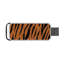 Skin3 Black Marble & Rusted Metal Portable Usb Flash (one Side)