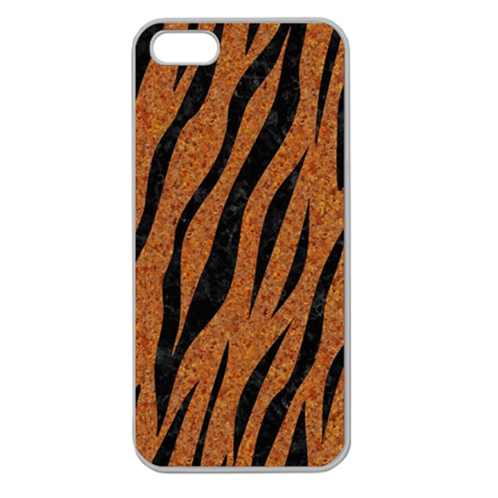 SKIN3 BLACK MARBLE & RUSTED METAL Apple Seamless iPhone 5 Case (Clear)