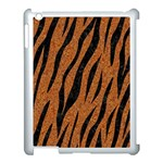 SKIN3 BLACK MARBLE & RUSTED METAL Apple iPad 3/4 Case (White) Front