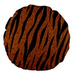 SKIN3 BLACK MARBLE & RUSTED METAL Large 18  Premium Round Cushions Front