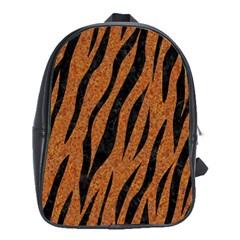 Skin3 Black Marble & Rusted Metal School Bag (xl)