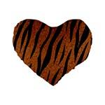 SKIN3 BLACK MARBLE & RUSTED METAL Standard 16  Premium Heart Shape Cushions Front