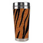 SKIN3 BLACK MARBLE & RUSTED METAL Stainless Steel Travel Tumblers Left