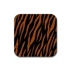 Skin3 Black Marble & Rusted Metal (r) Rubber Coaster (square)