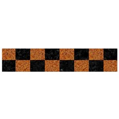 Square1 Black Marble & Rusted Metal Flano Scarf (small)