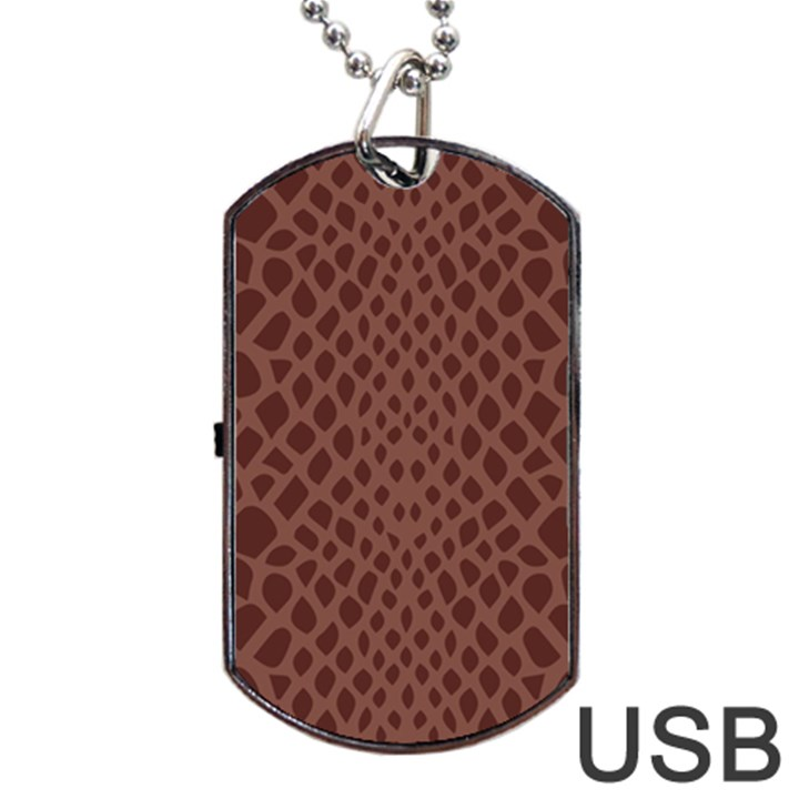 Autumn Animal Print 5 Dog Tag USB Flash (Two Sides)
